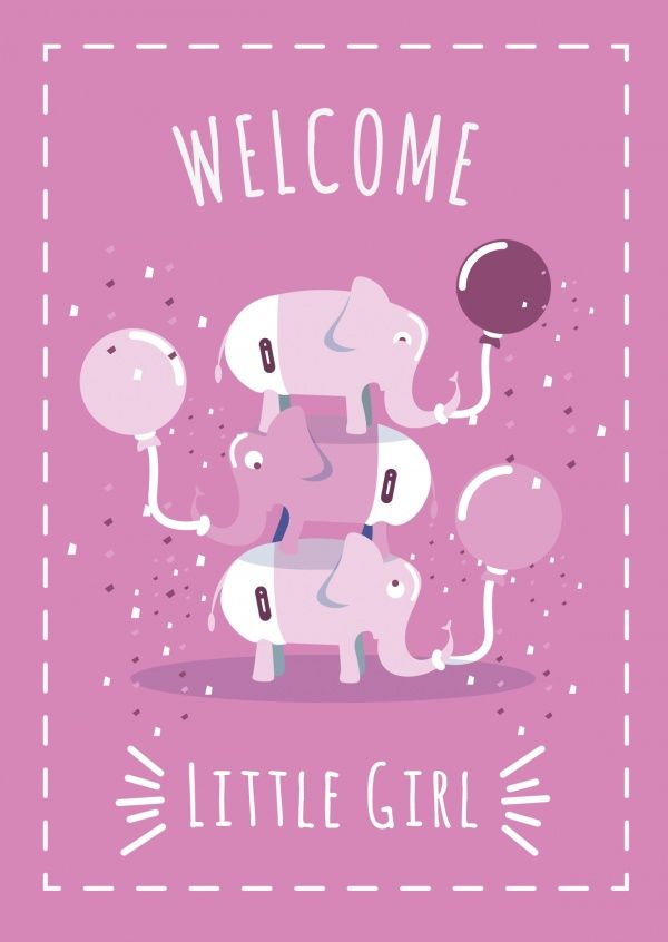 Welcome little girl | Baby & Family | Send real postcards online…