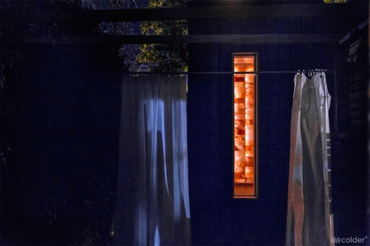 The Welpod at nightfall - the unique, therapeutic sauna experience by Circle Wellness Studios
