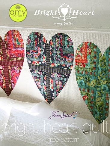 Free sewing tutorial for hearts quilt by Amy Butler Design