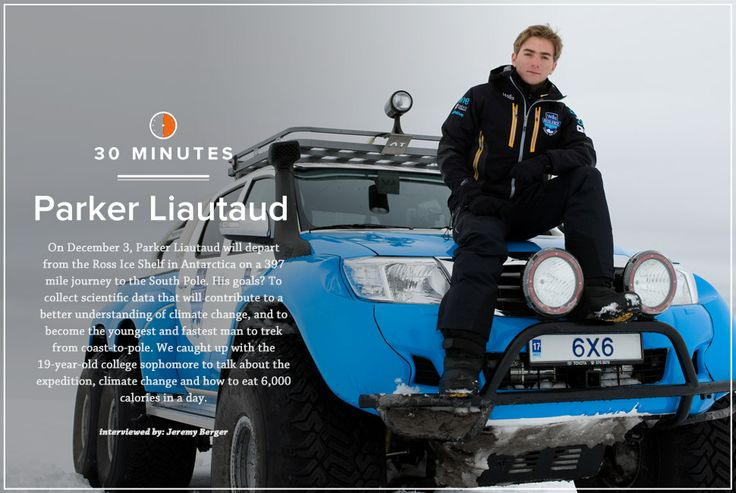 """Meet the extraordinary Parker Liautaud. He became the youngest person to complete a Last Degree expedition to the Geographic North Pole when he was only 16 years old. TIME magazine named him as one of the """"30 people under 30 changing the world."""" """"Every step is another one in the bag and the most important thing is to stay positive.""""  Parker Liautaud http://www.thextraordinary.org/parker-liautaud"""