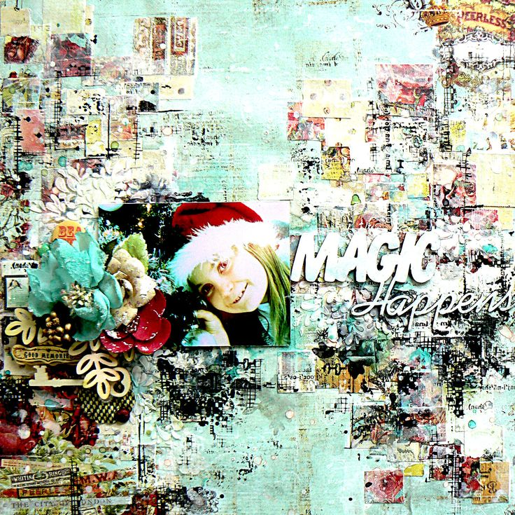 "Scrap of Elegance, kit of Dec. ""Ever True"" _ Stéphanie Papin _ http://partiesdescrap.blogspot.fr/2014/12/magic-happens.html"
