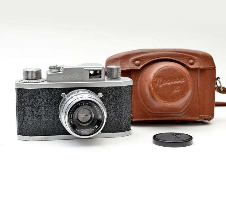 Rare Nescon 35 Vintage 35mm Film Japanese Rangefinder Camera with Case by vtgwoo on Etsy