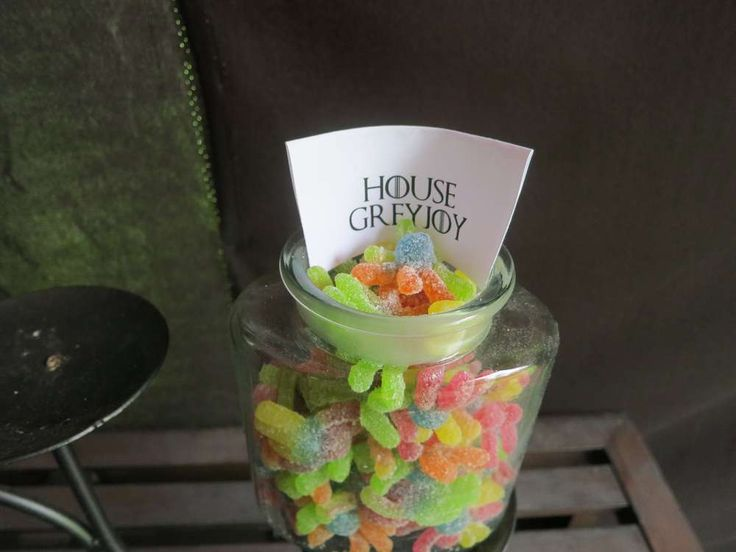 Candy Bar: House Greyjoy = Gummi Octopi | Epic Game of Thrones Nameday Celebration | Catch My Party