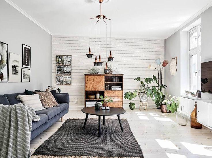 Post: Paredes con paneles de madera --> blog decoración nórdica, decoración interiores, decoración pisos pequeños, estilo nórdico, paneles de madera, estilo rústico, cottage, pared de madera, piso sueco, scandinavian interiors, home decor, interior design, wood wall