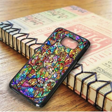 All Character From Disney Stained Glasses Samsung Galaxy S6 Edge Plus Case