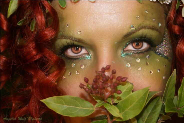 poison ivy costume make-up