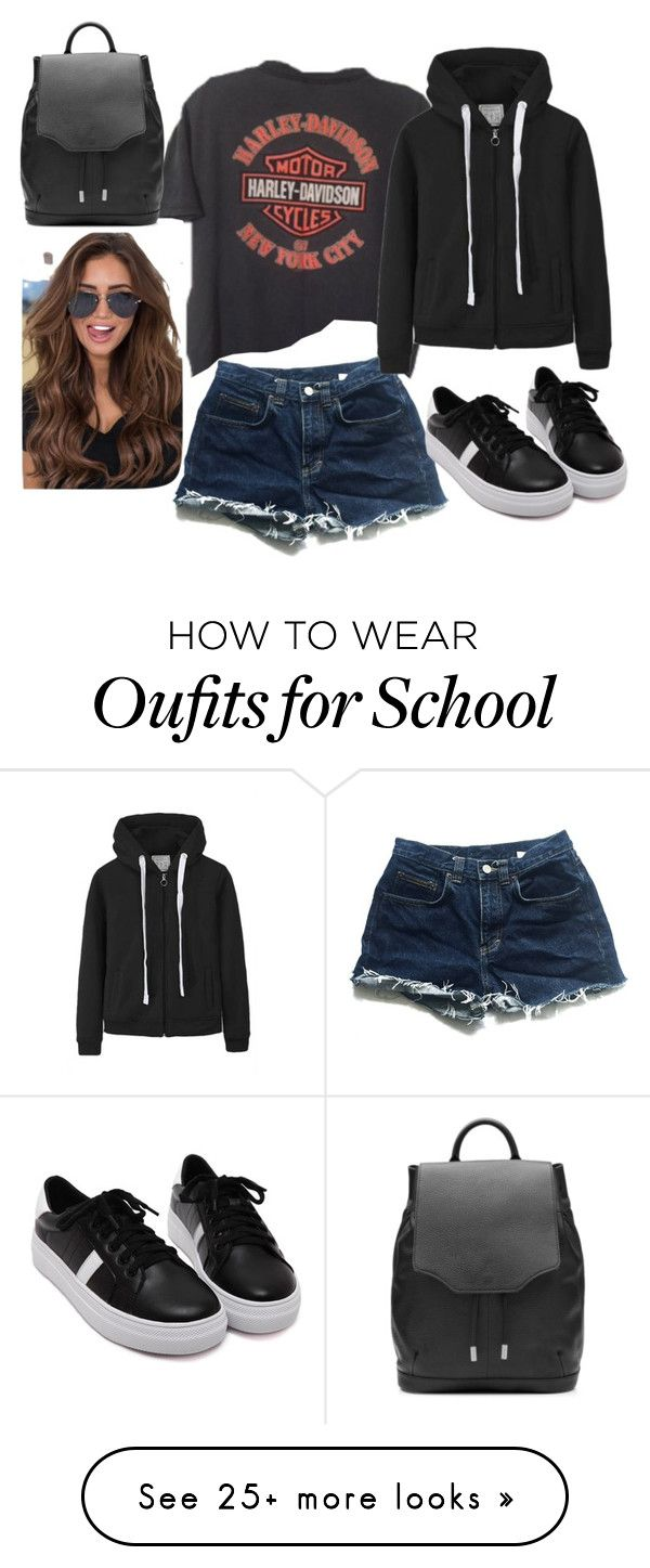 """""""Back to school outfit"""" by youngsmile on Polyvore featuring Calvin Klein, WithChic and rag & bone"""