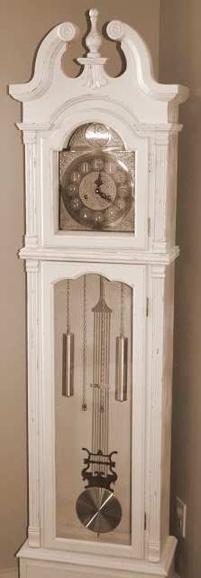 Spray paint the gold parts, silver.  Paint the outside white with Chalk paint, and then rub a stain in the creases.
