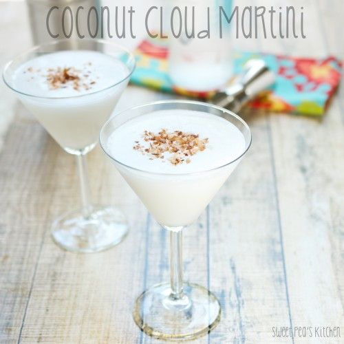 Coconut Cloud Martini - this dreamy cocktail is the perfect concoction for summer! /BR | Sweet Pea's Kitchen