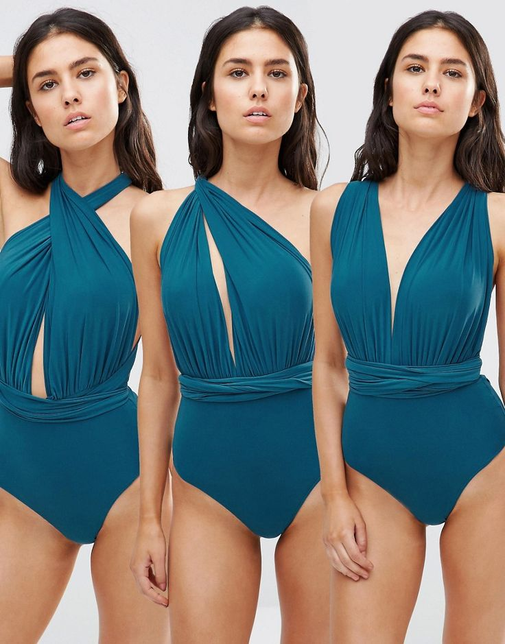 Buy it now. Goddiva Multiway Swimsuit - Green. Swimsuit by Goddiva, Stretch swim fabric, Multi-way design, Comes with two long straps, Can be worn multiple ways, High-cut leg, Brief cut, Hand wash, 92% Polyester, 8% Elastane. , bañador, bañadores, swimsuit, monokini, maillot, onepiece, one-piece, bathingsuit. Green Goddiva  swimsuit  for woman.