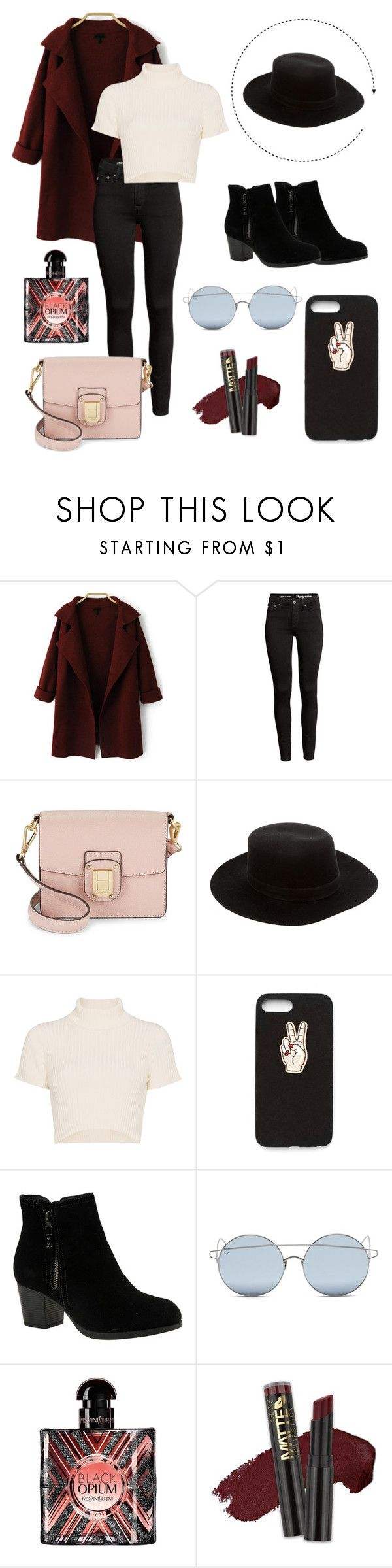 """""""🥀🌚"""" by nataliieruth ❤ liked on Polyvore featuring Sam Edelman, Janessa Leone, Staud, Nasty Gal, Skechers, For Art's Sake, Yves Saint Laurent and L.A. Girl"""