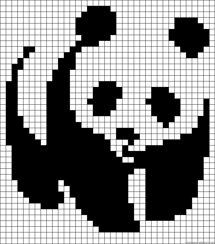 Panda plastic bead or cross stitch pattern