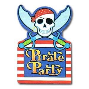 Pirate Party Invitations (8/pkg)