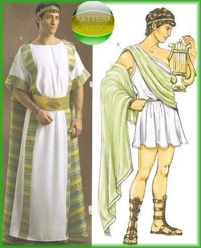 Julius Cesear Tunic Greek Roman Toga Patterns
