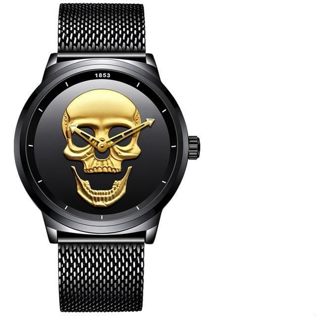 eb1b82a6832 50% OFF Flash SALE Military Steel Skull Watch