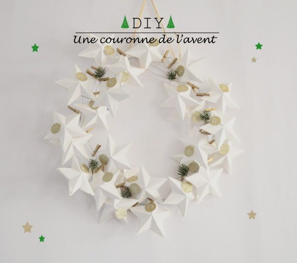 //DIYourself// Une «couronne» calendrier de l'avent - Silence on décore - Blog déco, inspirations industriel, scandinave et vintage