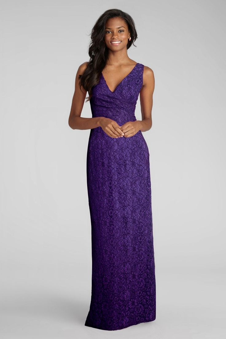 157 best purple weddings images on pinterest purple wedding just in donna morgans lark lace full length bridesmaid dress in purple dahlia ombrellifo Choice Image
