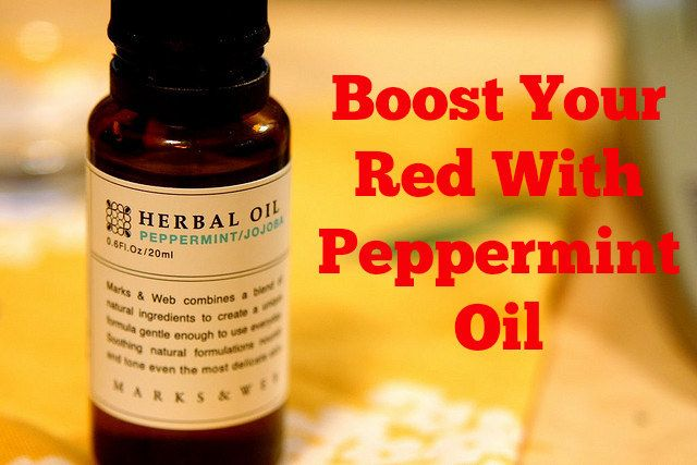 Spritz peppermint oil on your damp hair for a color boost! (Bonus: You'll smell like happiness.)