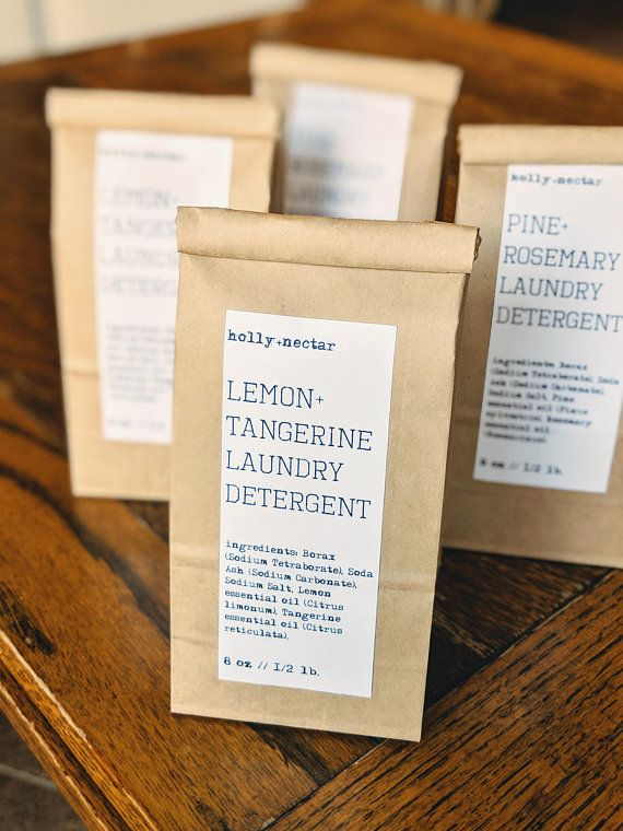 Lemon Tangerine All Natural Laundry Detergent Powder Laundry