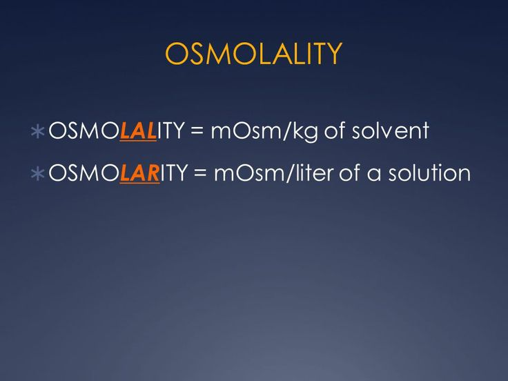 osmolality and electrolytes A serum osmolality test is a way to check the fluid balance in your body sodium is one of the major electrolytes in your bloodstream.
