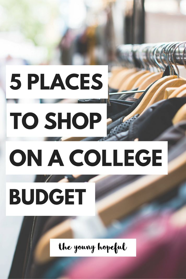 Our fave stores to shop while on a college budget