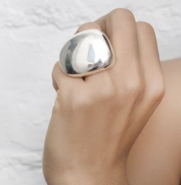 Sterling rock ring