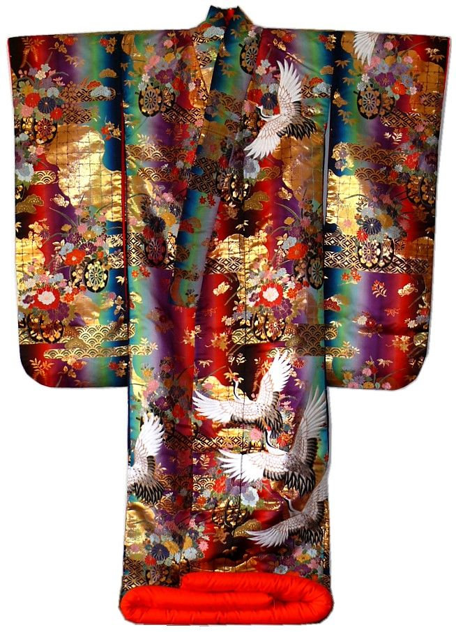 Beautiful Japanese wedding kimono gown, 1970s