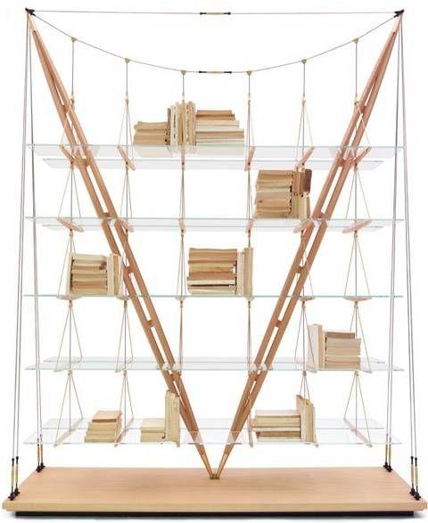 Franco Albini's Veliero Bookshelf Is Like A Suspension Bridge For Books : TreeHugger