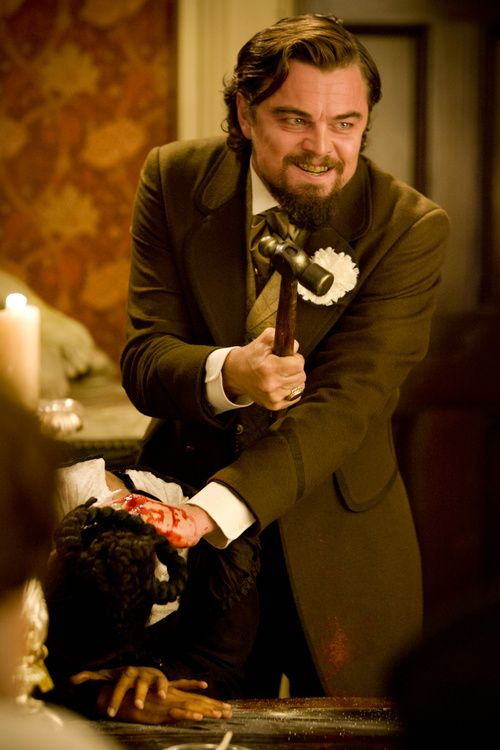 "Leonardo DiCaprio em Django Unchained ""Gentleman, you had my curiosity, now you have my attention."""
