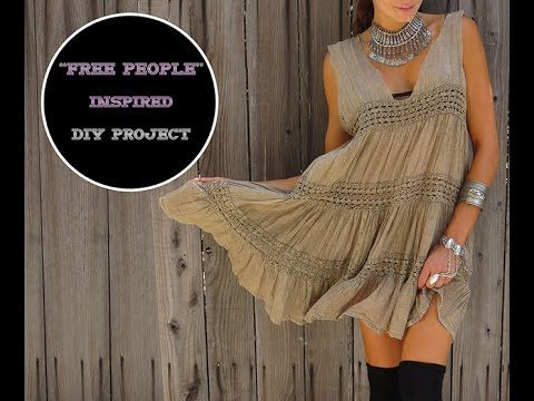 """DIY How to make a """"Free People"""" Inspire Babydoll Dress - YouTube"""