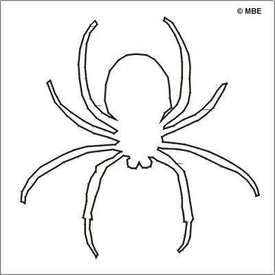 Happy Halloween! 9 Free Printable Stencils: Free Halloween Stencil: Spider 1