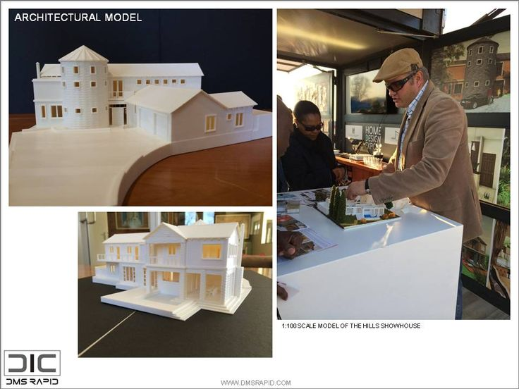 1:100 scale show house model with detailed interior and removable roof and 1st floor
