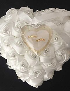 Lace+Heart+Shape+With+Rose+and+Bow+Ring+Box+Pillow+for+Wedding(More+Colors)(26*26*14cm)+–+USD+$+17.99