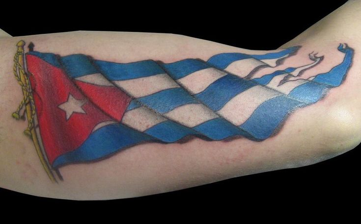 cuban flag badass tattoos pinterest flag tattoos flags and tattoos and body art. Black Bedroom Furniture Sets. Home Design Ideas