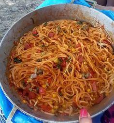 receta de  espaguetis dominicano
