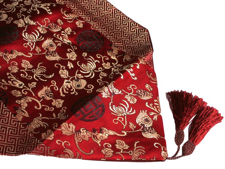 Red Asian Table Runner