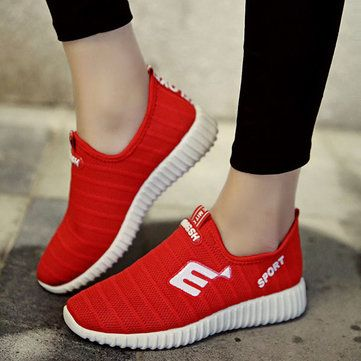 Breathable Mesh Casual Sport Slip On Outdoor Shoes - US$19.99