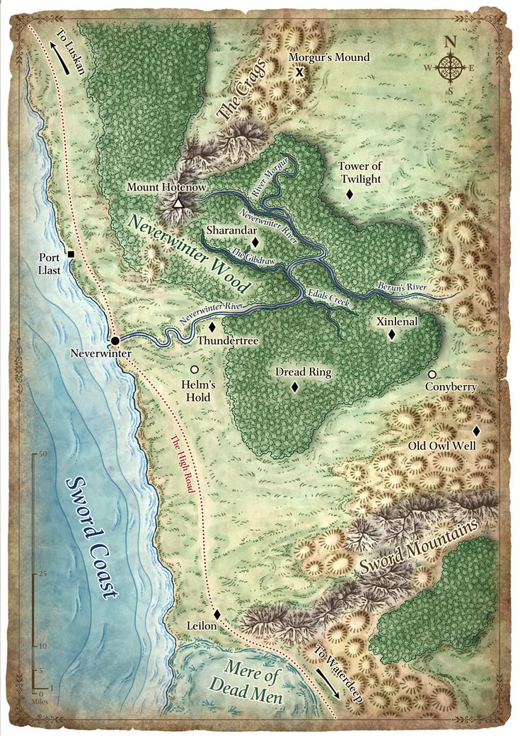The North Sword Coast poster map