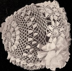 Thread Crochet Baby Bonnet Pattern