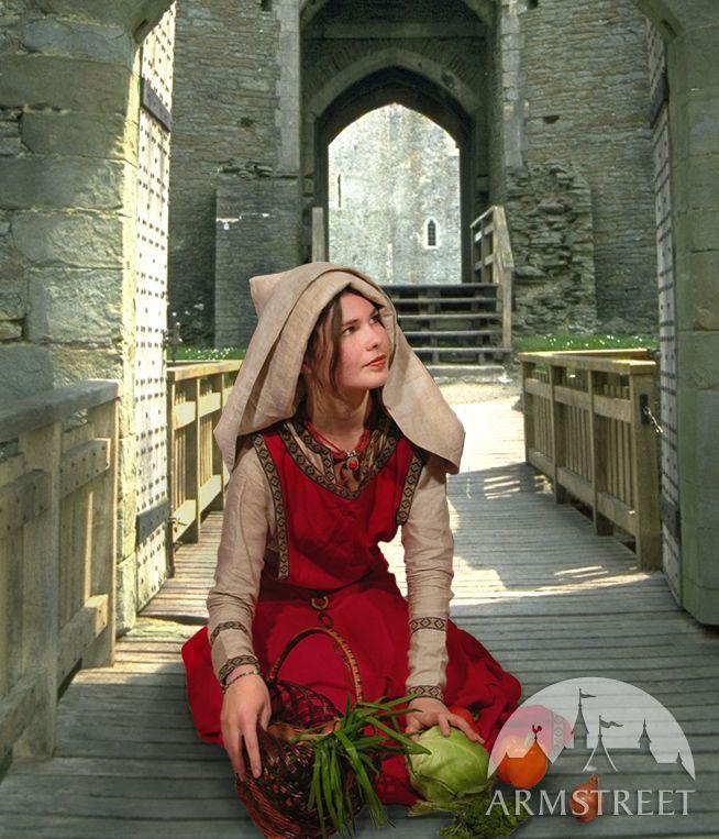 """Mittelalter Kostüm """"Stadtfrau"""" Westeuropa Xiv-xv. Jhrt"""