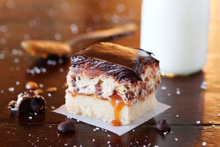 Cookie Dough Billionaire Bars