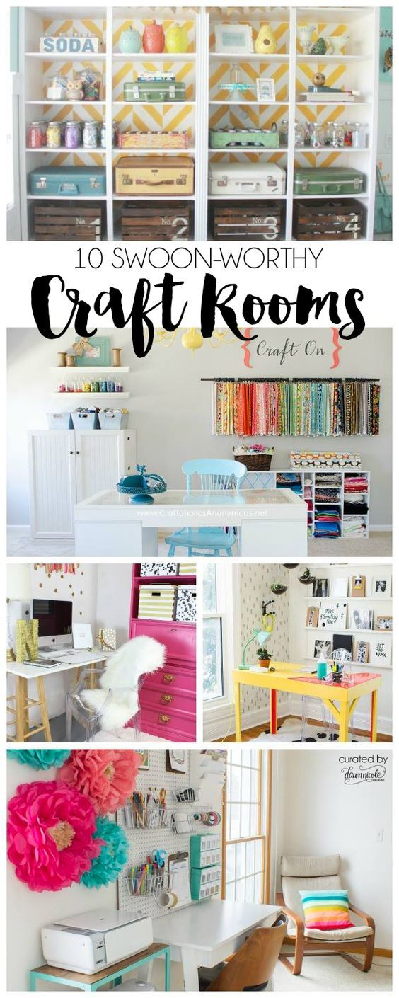 10 Swoon Worthy Craft Rooms Craft StorageStorage