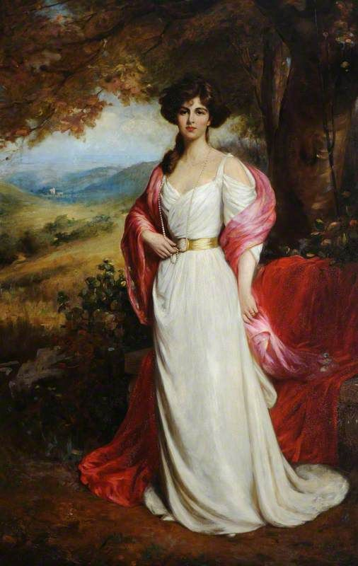 Ellis William Roberts (1860-1930) - Lady Enid Edith Wilson, Countess of Chesterfield (1878-1957). Oil on Canvas. England. Circa 1900. 264.5cm x 177.5cm.