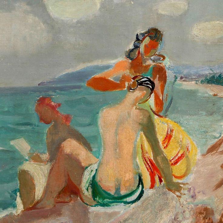 Jean Aujame (French, 1905-1965), Bain de soleil.