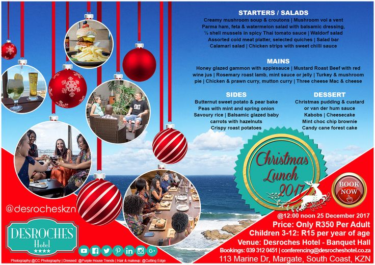 View our #mouthwatering #christmaslunch #menu here & BOOK TODAY! #kznsouthcoast #margateismagic #gottaluvkzn