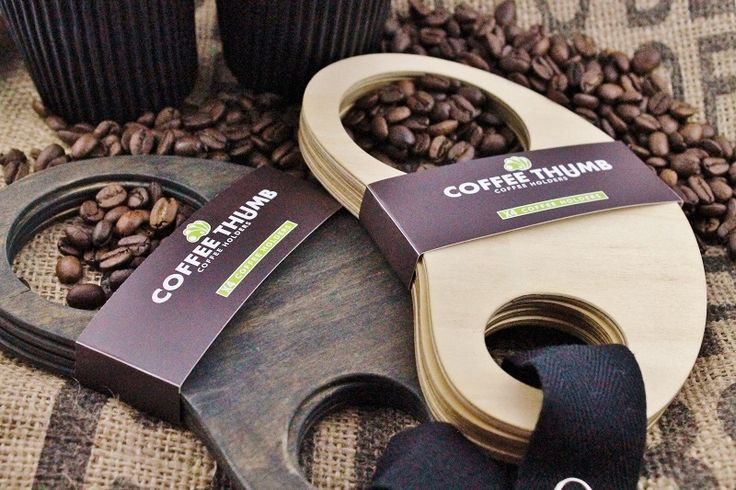 Coffee thumb coffee holders.  2 sets . Made from Certified Australian Hoop pine. By Mutating Creatures