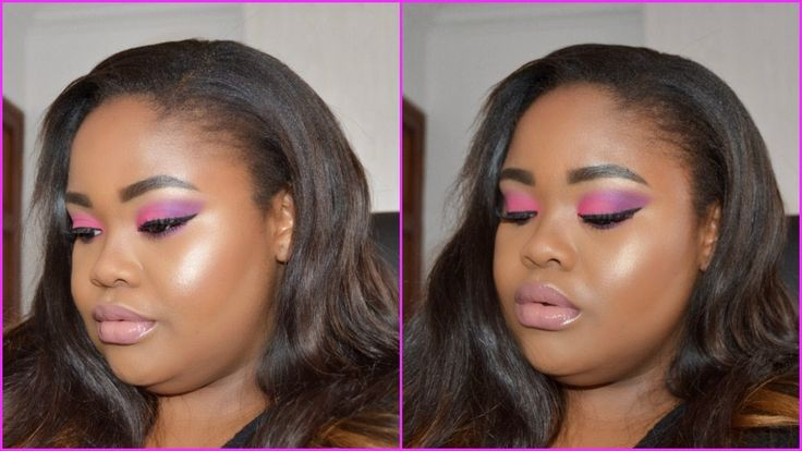 Bright And Colourful Purple Pink Ombré Makeup Tutorial ♡ Nicole Khumalo ...