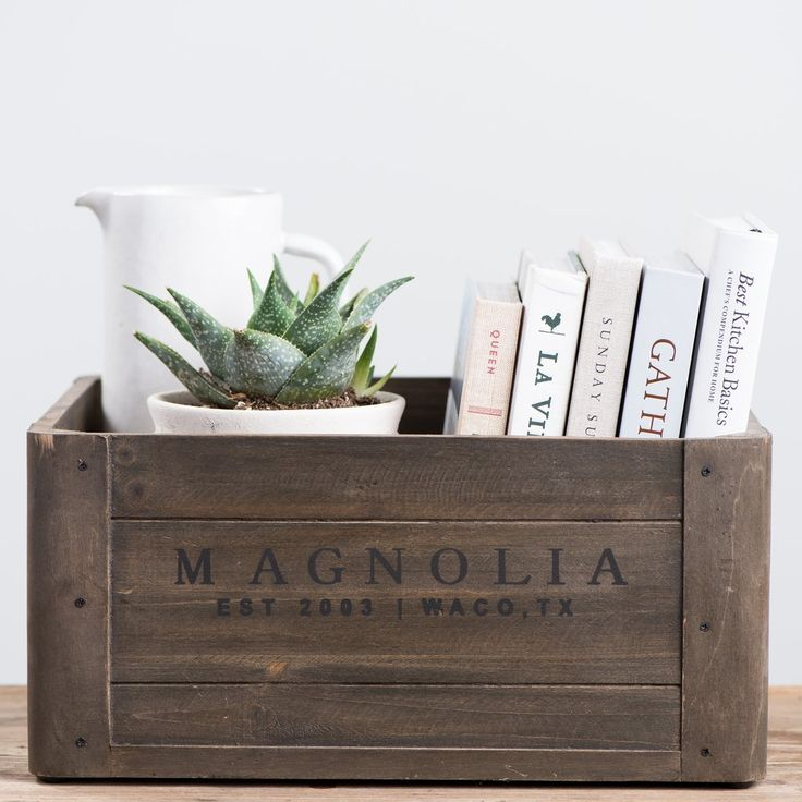Magnolia Wooden Crate – Magnolia | Chip & Joanna Gaines – Living room Ideas