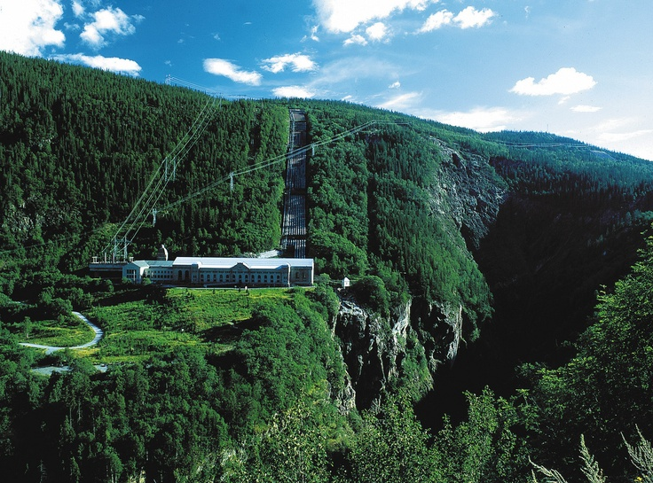 Vemork: hydroelectric power plant outside Rjukan in Tinn, Norway. The plant was built by Norsk Hydro and opened in 1911, its main purpose being to fix nitrogen for the production of fertilizer. Vemork was later the site of the first plant in the world to mass-produce heavy water developing from the hydrogen production then used for the Haber process. During World War II, Vemork was the target of Norwegian heavy water sabotage operations.