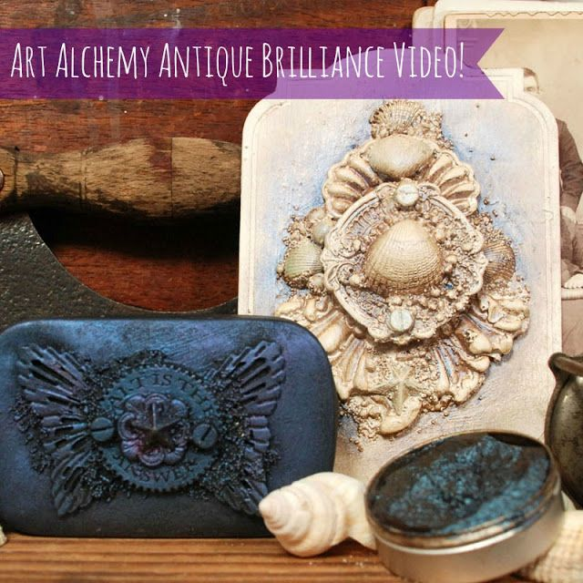Finnabair: Art Alchemy Antique Brilliance Wax - video guide and tutorial!